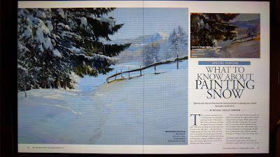 My Article on Painting Snow -- and Painting IN the Snow!