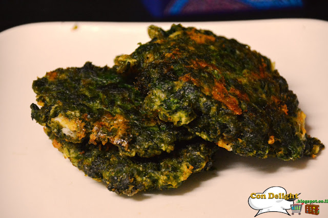 לביבות תרד ובולגרית Bulgarian cheese and spinach latkes