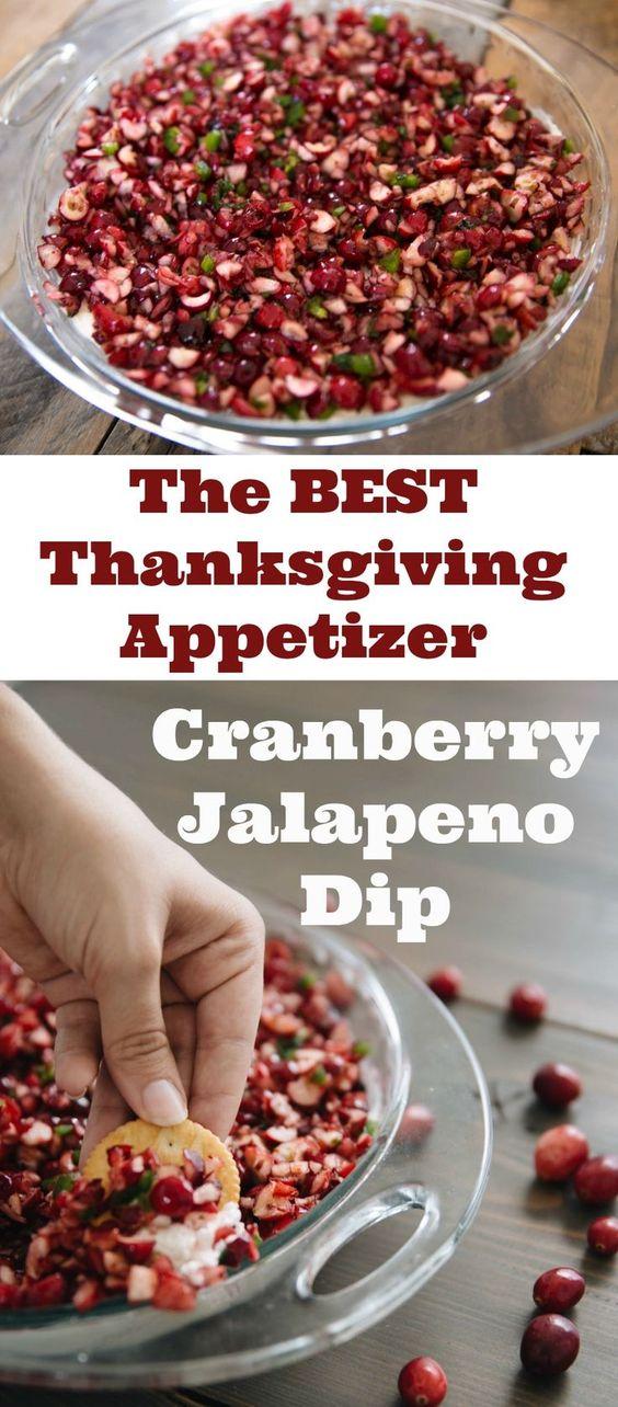 Cranberry Jalapeno Cream Cheese Dip