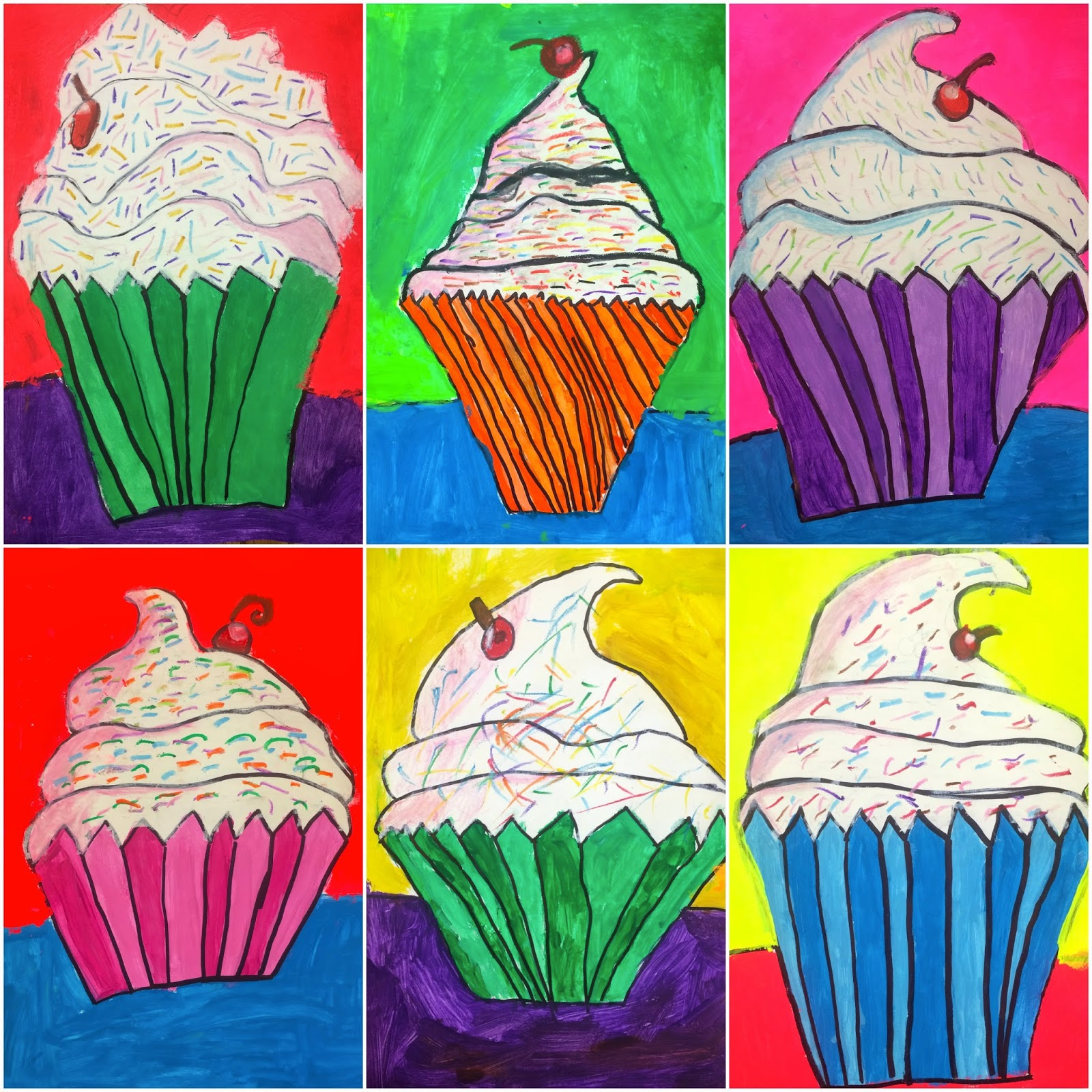 Art Eat Tie Dye Repeat 4th Grade Wayne Thiebaud Cupcakes