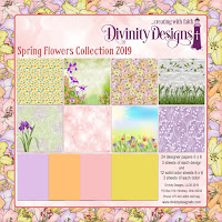 Divinity Designs Spring Flowers Paper Collection 2019
