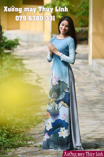 mẫu áo dài đẹp năm 2019