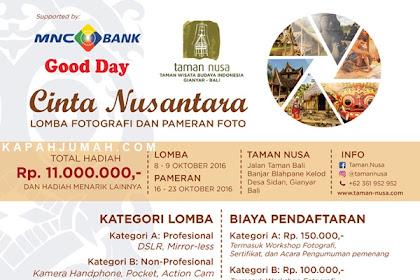 Lomba Fotografi dan Pameran Foto Taman Nusa