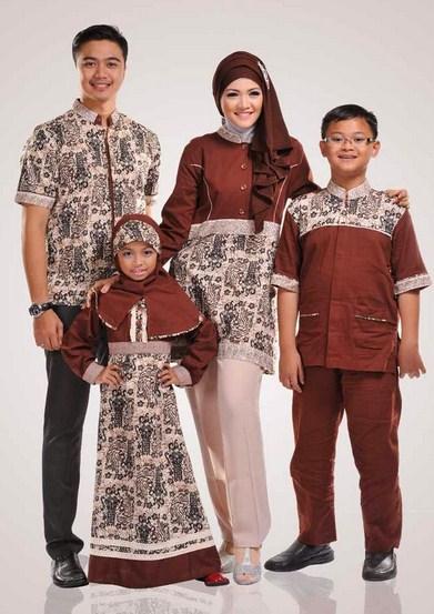 Contoh Baju Batik Muslim Anak Perempuan dan Laki-laki ...