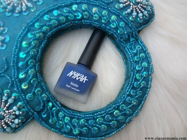 Nykaa Matte Nail Paint Blueberry Compote Review