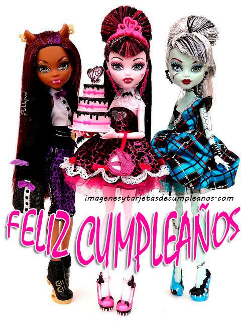 Monster High Feliz Cumpleaños