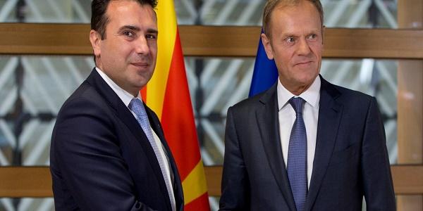 Ο Τουσκ και η ΕΕ ονομάζουν τα Σκόπια «Μακεδονία» (σκέτο) & τους κατοίκους «Μακεδόνες» - Μεγάλη «επιτυχία» της κυβέρνησης