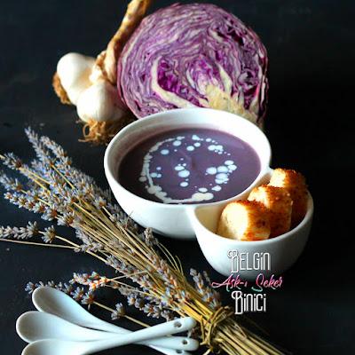 KIRMIZI-MOR LAHANA ÇORBASI TARİFİ sağlıklı çocuk kış çorbası nasıl yapılır kolay lezzetli nefis videolu çorba yemek tarifleri