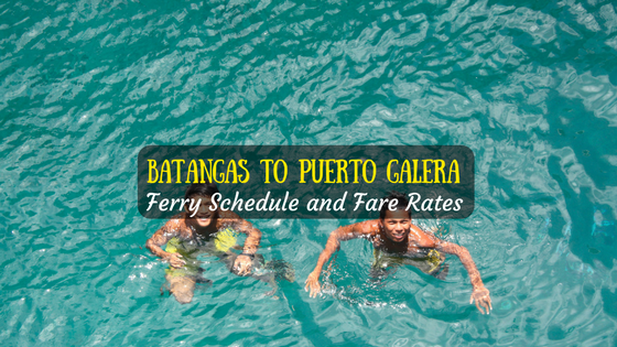 Batangas to Puerto Galera ferry schedule