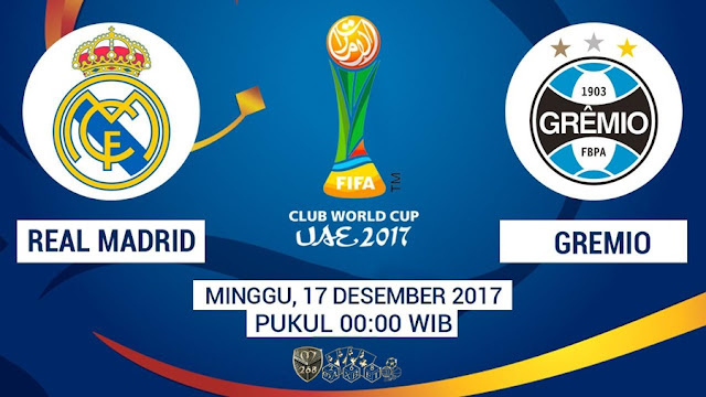 Prediksi Bola : Real Madrid Vs Gremio , Minggu 17 Desember 2017 Pukul 00.00 WIB