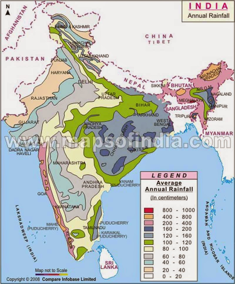 Thematic Map Of India India : Three Thematic Maps