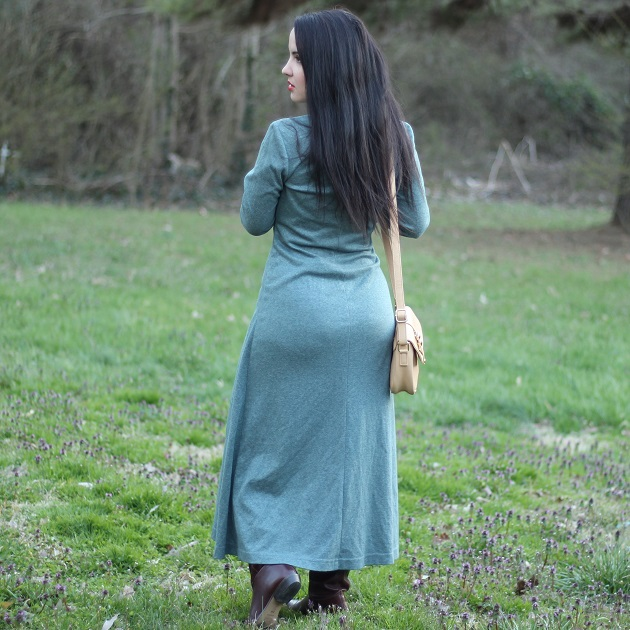 Long Green/Grey Dress