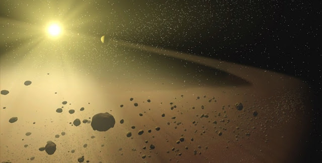 Artist's impression of the asteroid belt. Image credit: NASA/JPL-Caltech