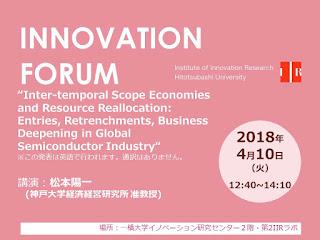 【イノベーションフォーラム】2018.4.10 松本陽一