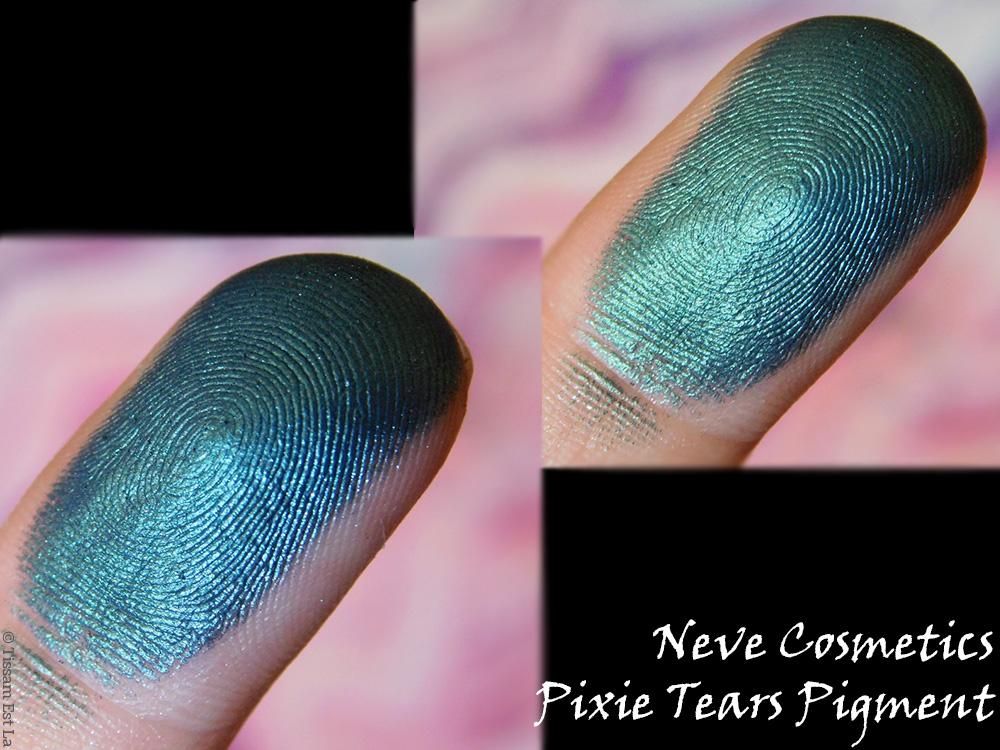 Neve Cosmetics - Makeup Minéral - Pixie Tears Mineral Eyeshadow - Pigment - Fard à paupières minéral en poudre - Duochrome Pigment - Review & Swatches - Avis et Revue