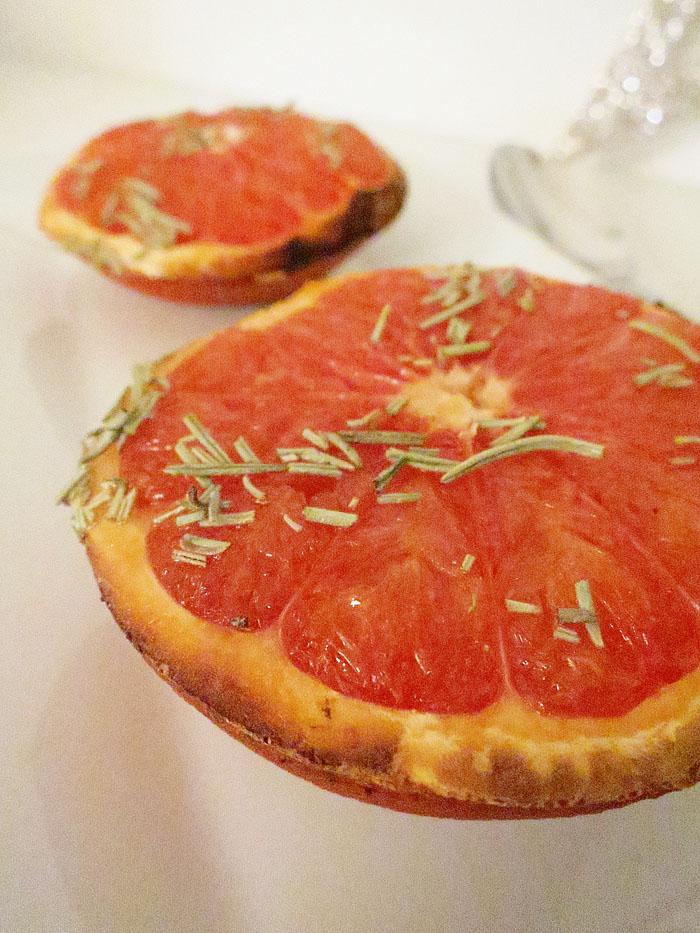 Grapefruit aus dem Ofen
