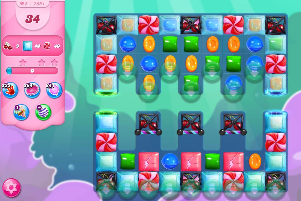 Candy Crush Saga level 7651