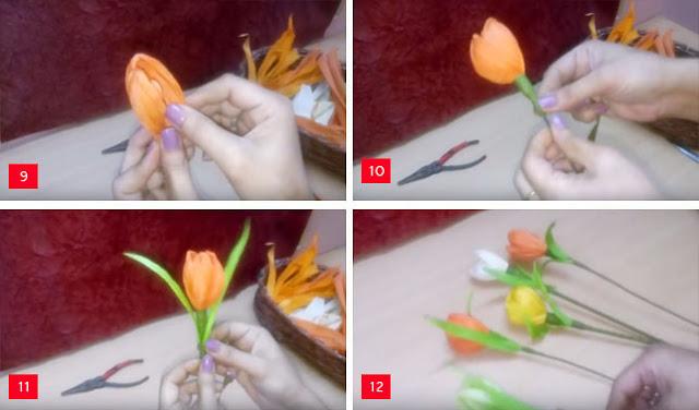 Cara Membuat Bunga Mawar dari Kulit Jagung