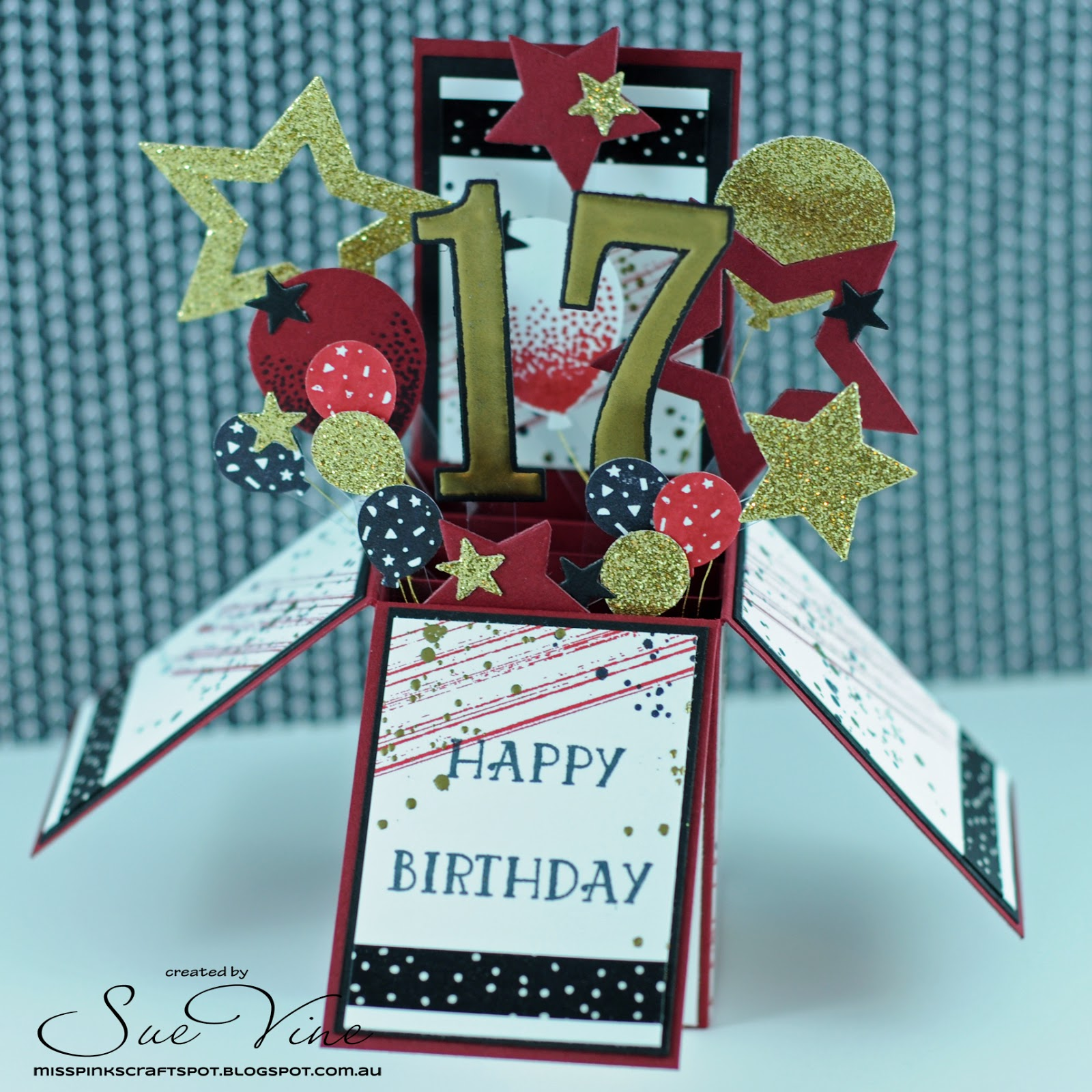 Miss Pinks Craft Spot Masculine Birthday Card in a Box