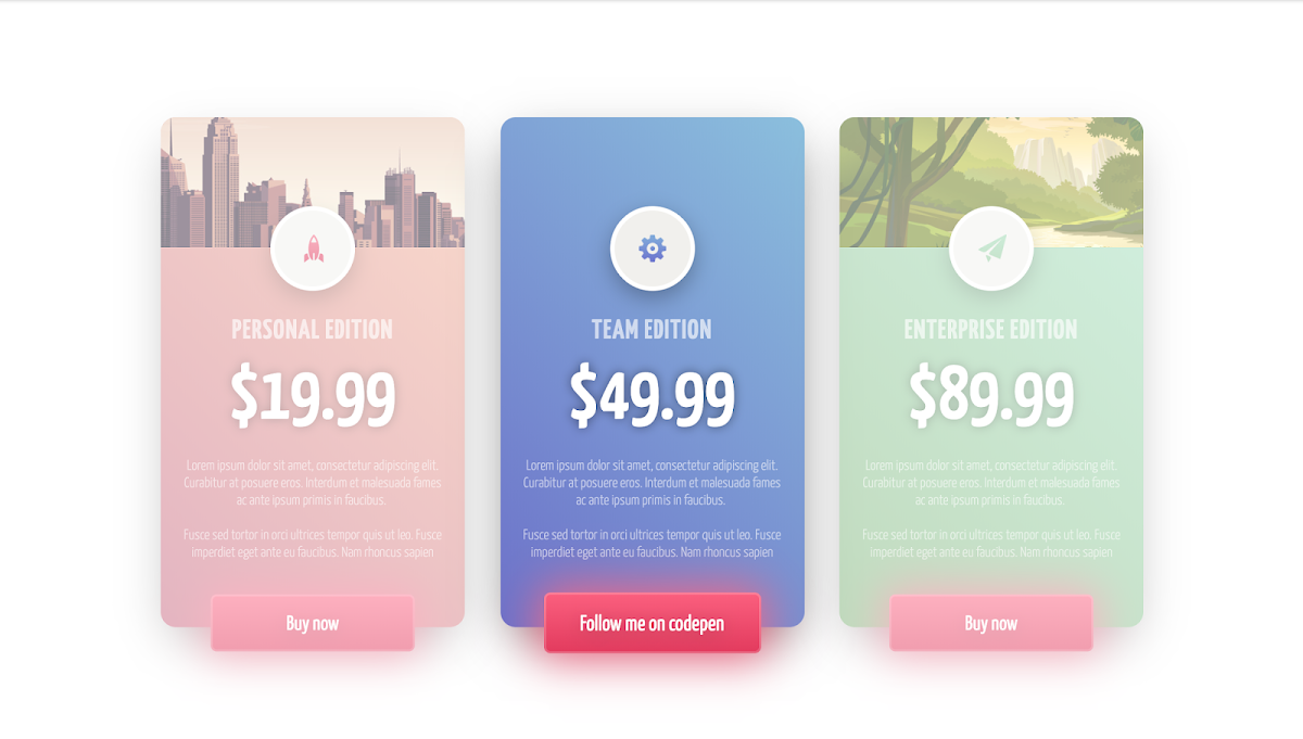 CSS Price Cards
