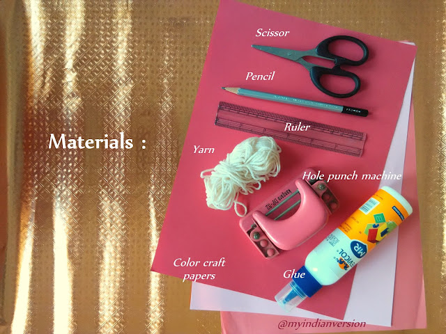 How To Make Paper Lantern : Materials