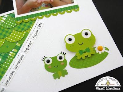 Doodlebug Pot O' Gold Frog Themed Scrapbook Layout by Mendi Yoshikawa