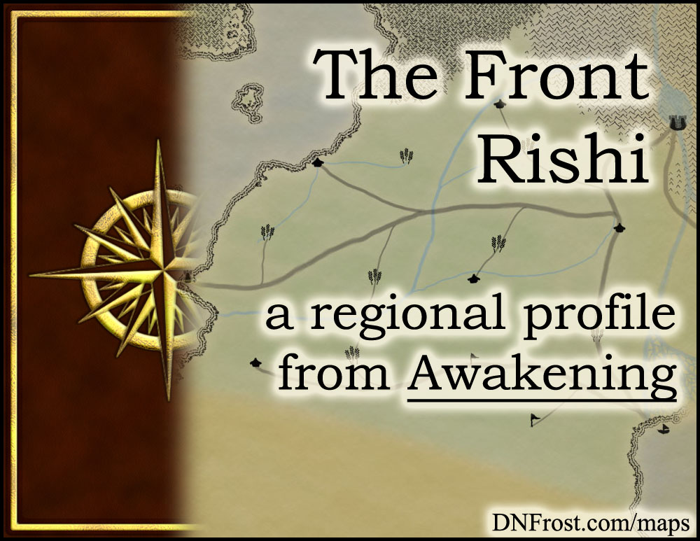The Front Rishi: windswept plains of the gryphon riders http://www.dnfrost.com/2016/02/the-front-rishi-regional-profile.html #TotKW A regional profile by D.N.Frost @DNFrost13 Part 13 of a series.