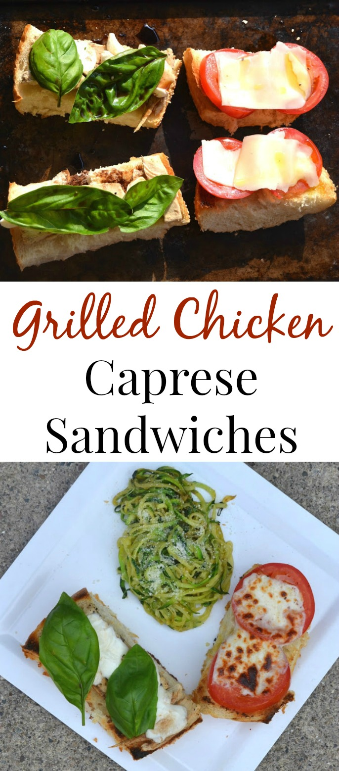 These Grilled Chicken Caprese Sandwiches are simple and delicious. They use fresh and flavorful ingredients for a nutritious meal. www.nutritionistreviews.com