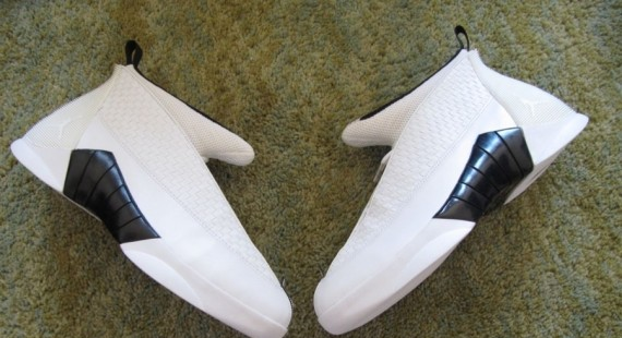 pretty nice d0f80 07b52 Shown here is a white black pair from the set, which gets even more  confusing in terms of origin with that Nike Employee Store stamp that shoes  up on the ...