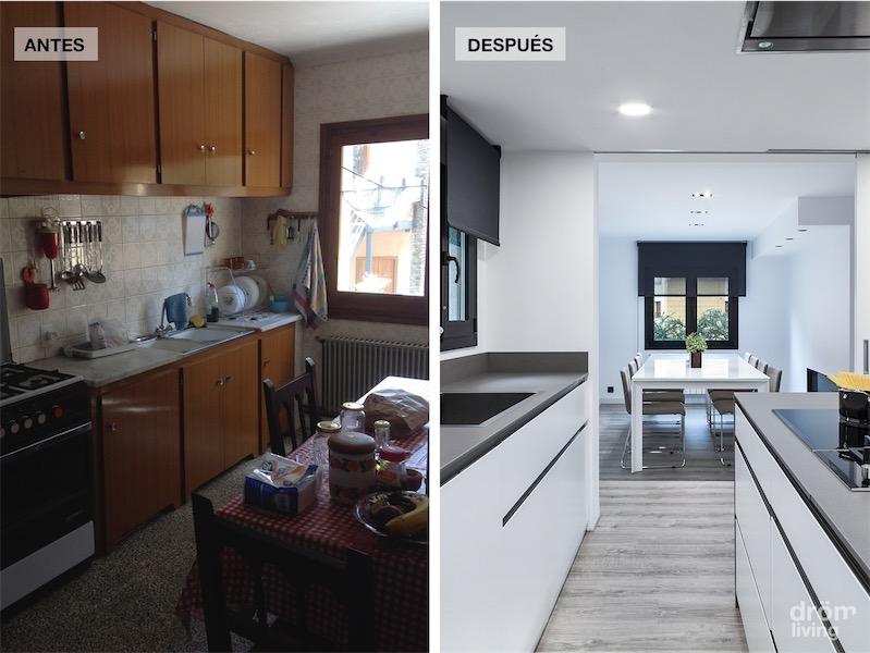 el antes y despues de la reforma de una casa de monta a