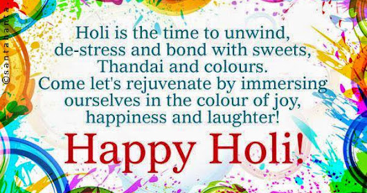 Get Free 2018 Happy Holi Status In Hindi For Friends and Family