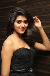 Shalu Chourasiya in spicy Sleeveless Strapless Black Top at O Pilla Nee Valla Movie Audio Launch Feb 2017 073.JPG