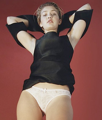 Gigi Hadid shows off undies for Pop Magazine April 2015