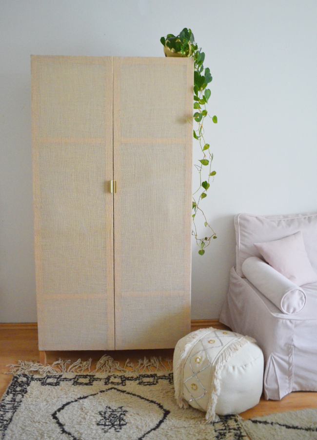 make it boho diy simple natural jute closet. Black Bedroom Furniture Sets. Home Design Ideas