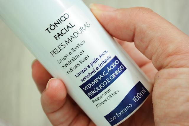 pele, tônico facial, antioxidantes, vitamina c, ácido ferúlico, ginkgo biloba, pele saudável