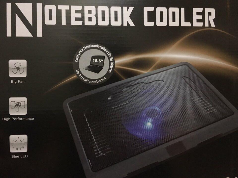 40k - Đế tản nhiệt Laptop Z019 có 1 quạt lớn có đèn giá sỉ và lẻ rẻ nhất
