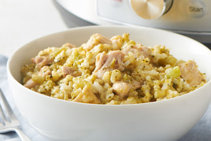 Creamy Cheesy Chicken And Rice