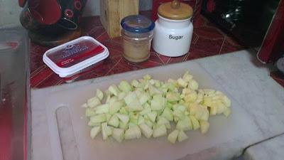 كريب بالتفاح المعسل