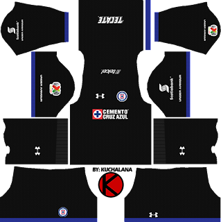 Cruz Azul Kits 2017/2018 - Dream League Soccer
