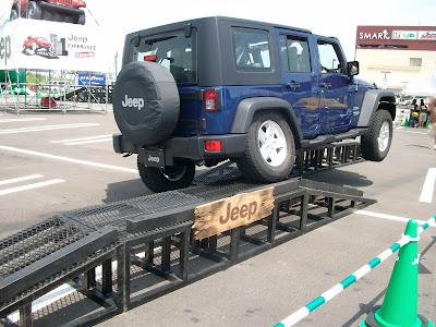 JEEPキャラバン隊のプロドライバーによるジープの試乗体験コース・クロスアスクル1