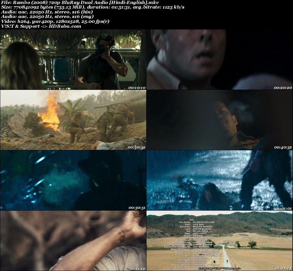 Rambo 2008 Hindi Dual Audio 720p Blu-Ray 800MB Screenshot
