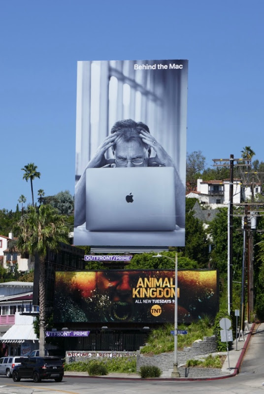 Behind the Mac Apple billboard