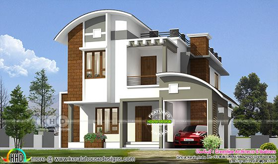 1790 square feet 3 bedroom modern contemporary Kerala home