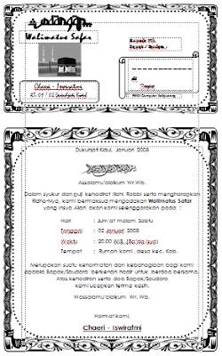Contoh Konsep Surat Undangan Walimatus Safar dan Umroh Word