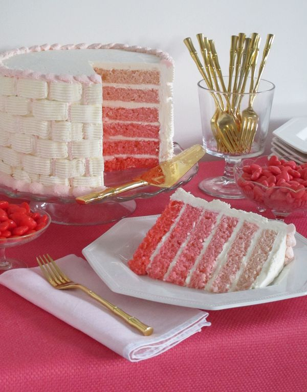 Do It Yourself Wedding: Do It Yourself Weddings: Pink Ombre Cakes