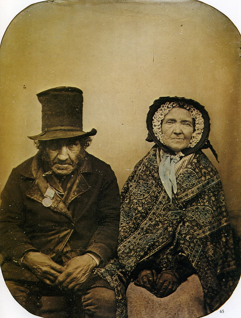 Portrait of a veteran and his wife, ca. 1860s ~ vintage everyday