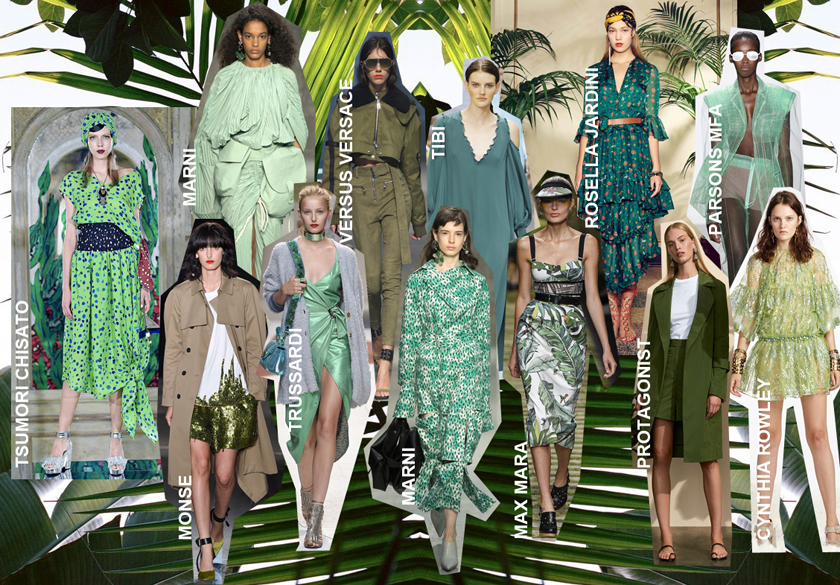 Pantone Colour of the Year 2017 Greenery Fashion Trends SS17 Runway