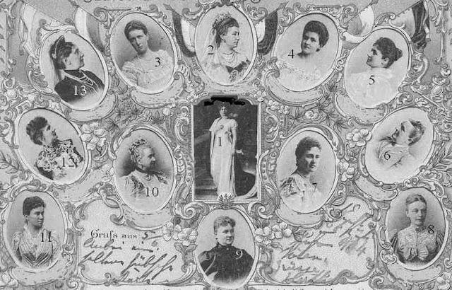 épouses des souverains de l'empire allemand en 1903-1904
