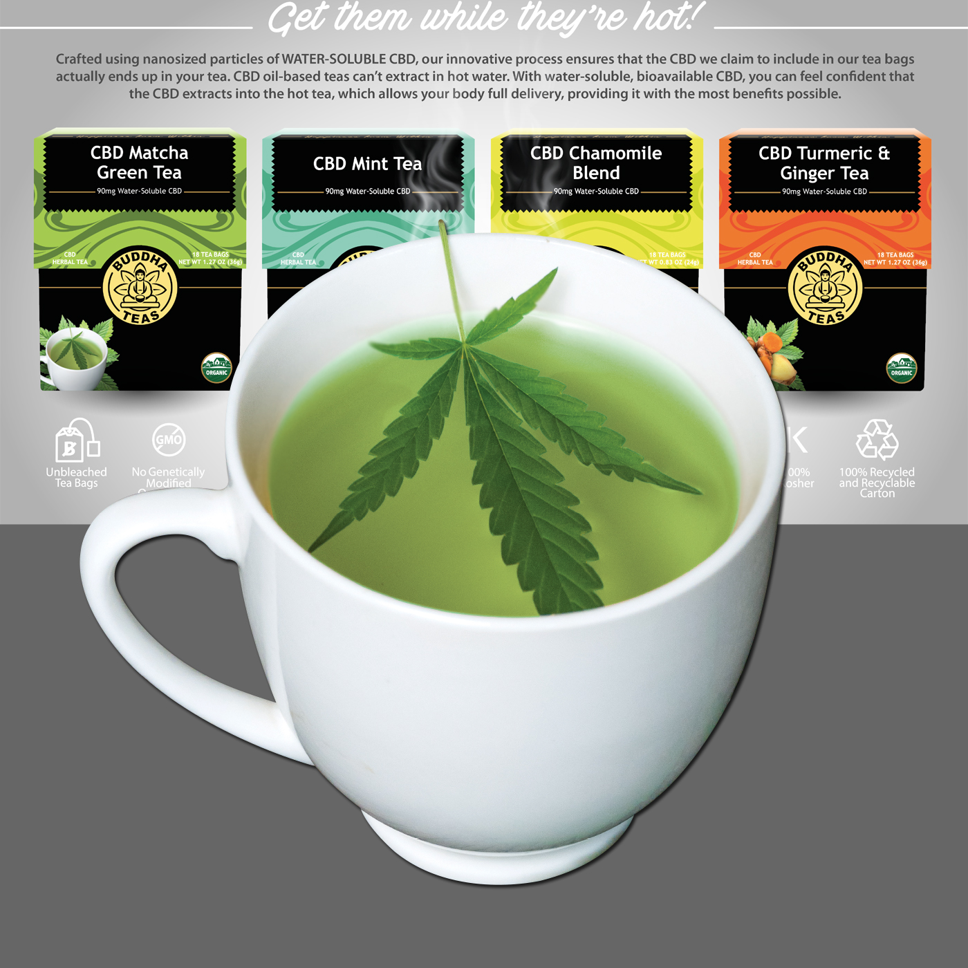 Organic CBD Tea by Buddha Teas