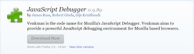 Mozilla Firefox Addons Javascript Debugger